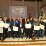 Fotogallery brindisi di Natale 2014 commercianti attestato negori storici