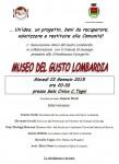 Presentazione Museo del Gusto Lombardia
