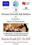Concerto Orchestra delle Bollicine aprile 2015