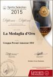 Medaglio d'Oro Grappa distillerie Peroni 2015