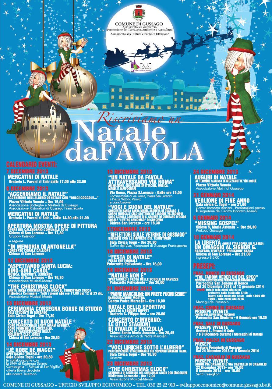 Eventi Di Natale.Calendario Eventi Di Natale A Gussago Riscriviamo Un