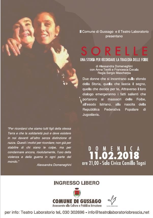 Spettacolo Sorelle febbraio 2018