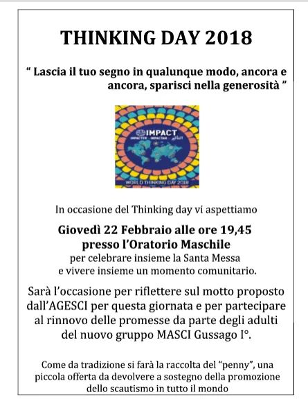 Thinking Day Scout 2018